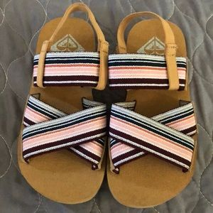 EUC Roxy Cove Elastic Multi-Strap Sandals Size 11